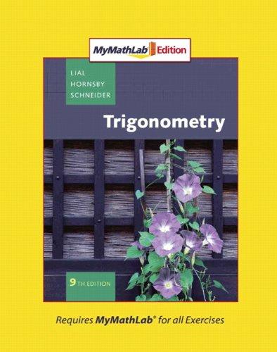 9780321574947: Trigonometry, MyMathLab Edition (9th Edition)