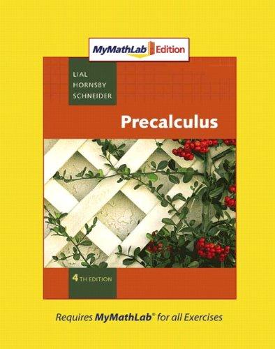 9780321574961: Precalculus, MyMathLab Edition (4th Edition)