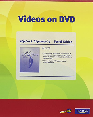 9780321575463: Videos on DVD for Algebra and Trigonometry