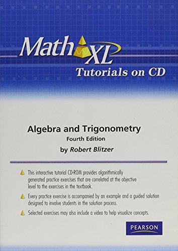9780321575470: MathXL Tutorials on CD for Algebra and Trigonometry