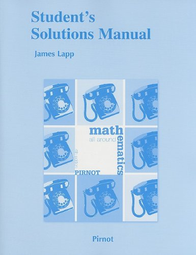 9780321575845: Student Solutions Manual for Mathematics All Around