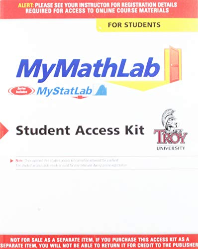 9780321576040: Mymathlab Student Access Kit: Mymathlab Coursecompass Student Access Code Card for Troy University (Standalone) - Mymathlab Coursecompass Student ... University (for Troy Valuepacks Only) 1/E