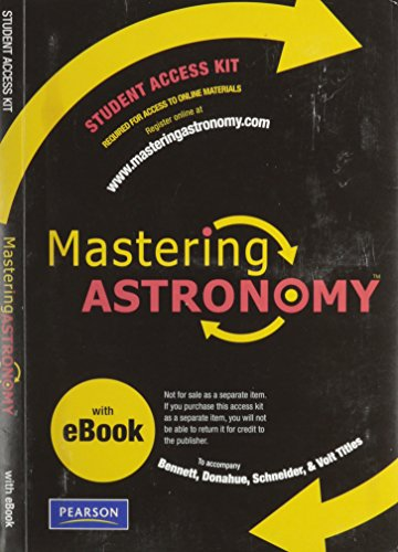 9780321582225: Mastering Astronomy with Pearson EText Student Access Kit for Bennett, Donahue, Schneider and Voit (ME Component)