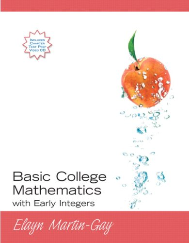 9780321584519: Basic College Mathematics with Early Integers Value Package (includes MyMathLab/MyStatLab Student Access Kit)