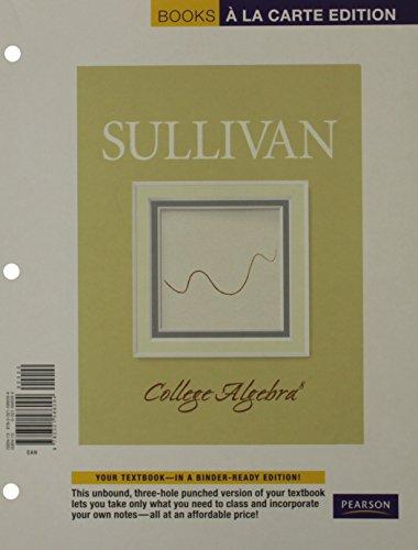 9780321586094: College Algebra, Books a la Carte Edition (8th Edition)