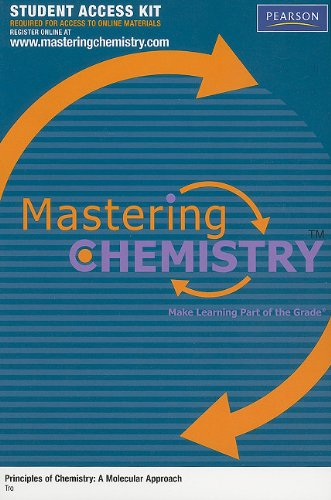 9780321586575: MasteringGeneralChemistry Student Access Kit for Principles of Chemistry: A Molecular Approach (MasteringChemistry (Access Codes))