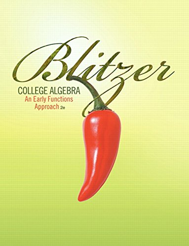9780321587978: College Algebra: An Early Functions Approach (2nd Edition)