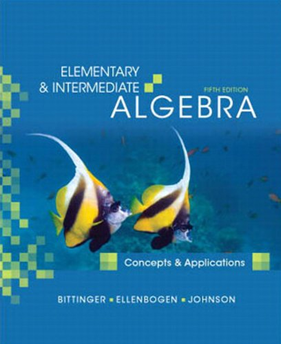 9780321588265: Elementary and Intermediate Algebra: Concepts and Applications, Books a la Carte Edition (5th Edition)