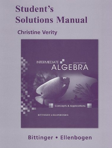 9780321588746: Student's Solutions Manual for Intermediate Algebra: Concepts and Applications