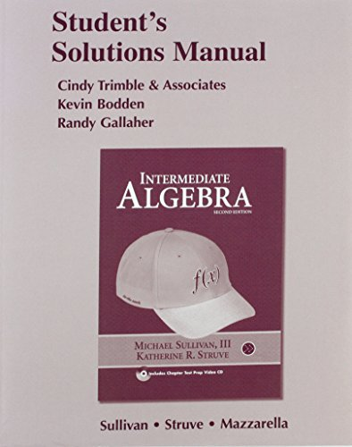 9780321589538: Student Solutions Manual for Intermediate Algebra