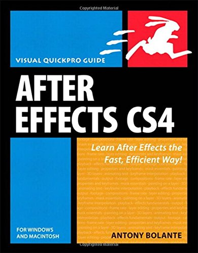 9780321591524: After Effects CS4 for Windows and Macintosh: Visual QuickPro Guide