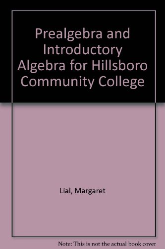 9780321592972: Prealgebra and Introductory Algebra for Hillsboro Community College