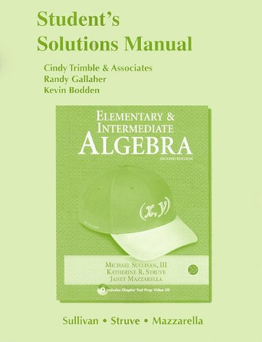 9780321593511: Student Solutions Manual for Elementary & Intermediate Algebra