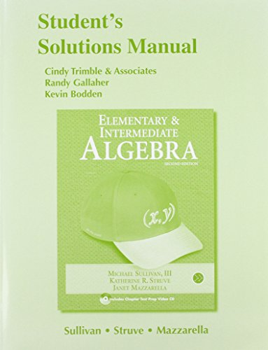 9780321593528: Student Solutions Manual for Elementary & Intermediate Algebra