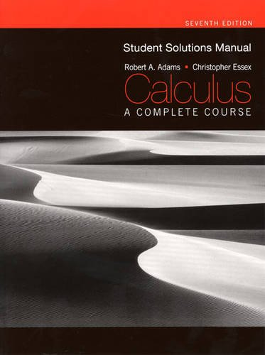 9780321597885: Student Solutions Manual for Calculus: a Complete Course