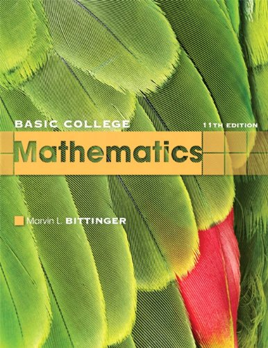 9780321599193: Basic College Mathematics (11th Edition)