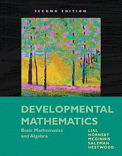 9780321599209: Developmental Mathematics: Basic Mathematics and Algebra (2nd Edition)