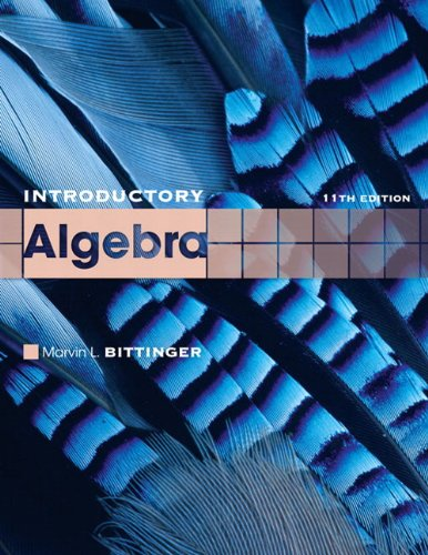 9780321599216: Introductory Algebra (11th Edition) (The Bittinger Worktext Series)