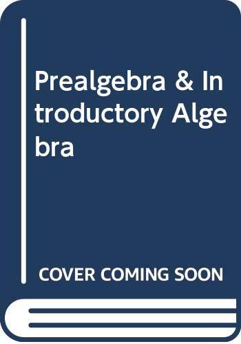 9780321599230: Prealgebra & Introductory Algebra