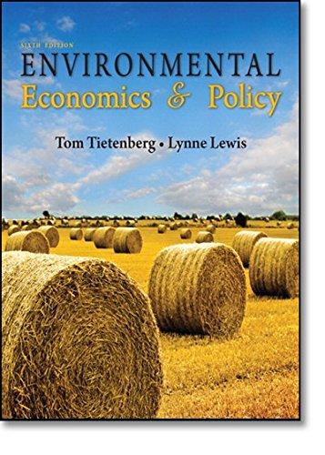9780321599490: Environmental Economics & Policy (6th Edition)