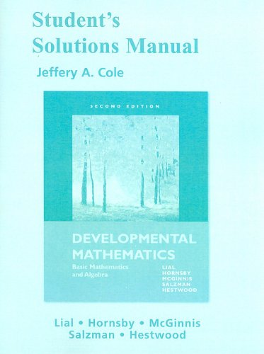 Student Solutions Manual for Developmental Mathematics: Basic: Margaret L. Lial,
