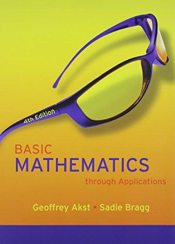 9780321600318: Basic Mathematics through Applications, A La Carte Plus (4th Edition)