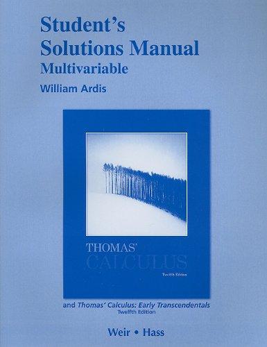 Thomas Calculus Solution Pdf