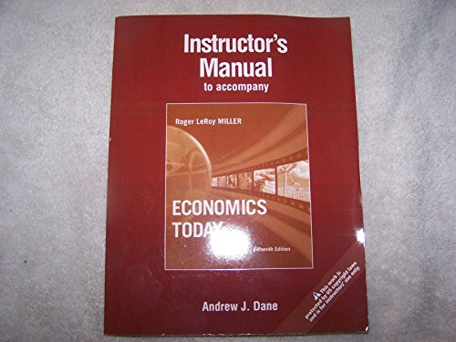 9780321606853: Instructor's Manual to Accompany Economics Today