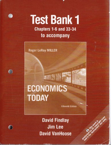 9780321606860: Test Bank 1: To Accompany Miller, Economics Today (Chaps 1-6 and 33-34), 15th Edition