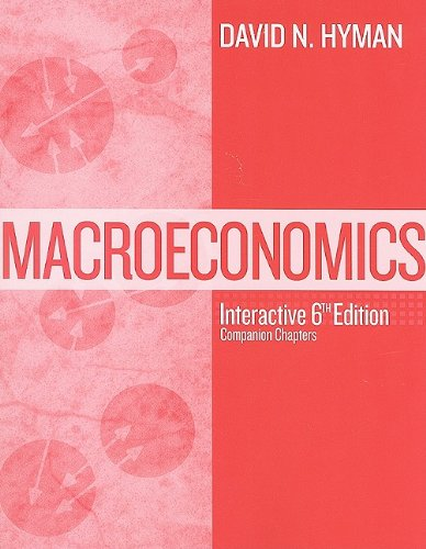Macroeconomics for Macroeconomics with access to dotlearn: David N. Hyman