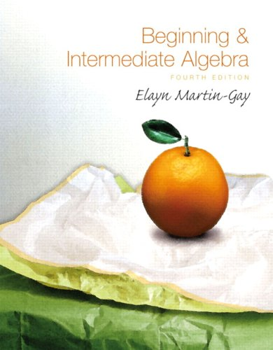 9780321609014: Beginning & Intermediate Algebra Value Pack (includes MathXL 24-month Student Access Kit & Student Solutions Manual ) (4th Edition)