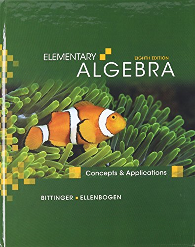 9780321609724: Elementary Algebra: Concepts and Applications with MathXL (12-month access) (8th Edition)