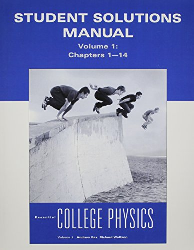 9780321611208: Student Solutions Manual for Essential College Physics, Volume 1