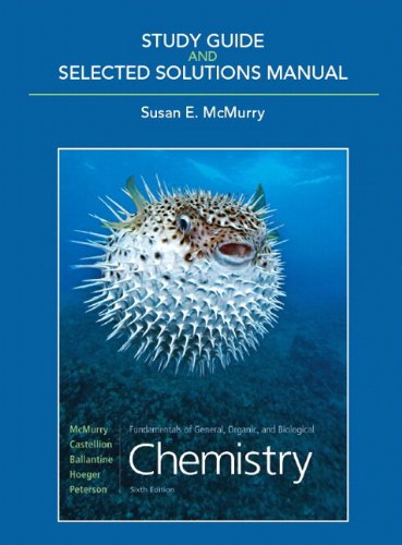 Study Guide & Selected Solutions Manual for: John McMurry, Susan