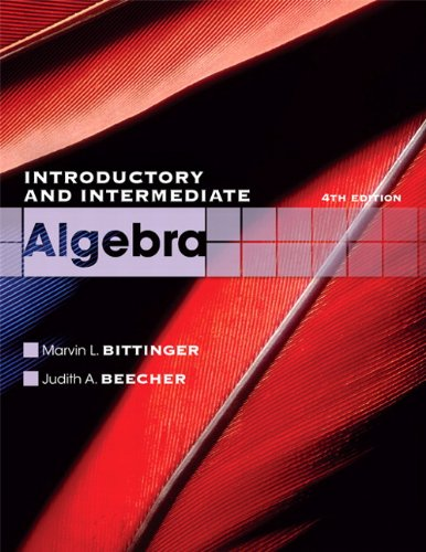 9780321613370: Introductory and Intermediate Algebra (The Bittinger Worktext Series)