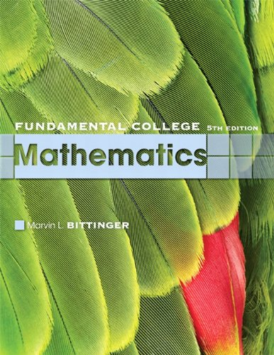 9780321613424: Fundamental College Mathematics (5th Edition)
