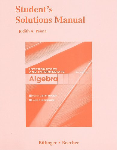 9780321613622: Student Solutions Manual for Introductory and Intermediate Algebra