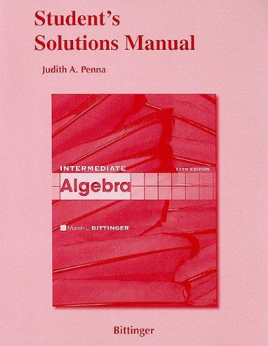 9780321613752: Student Solutions Manual for Intermediate Algebra