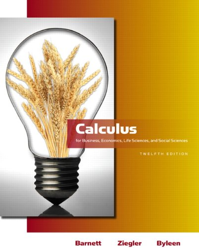 9780321613998: Calculus for Business, Economics, Life Sciences and Social Sciences (12th Edition) (Barnett)
