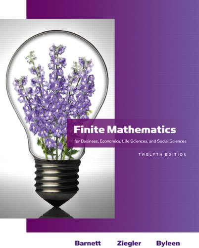 9780321614018: Finite Mathematics for Business, Economics, Life Sciences and Social Sciences (12th Edition) (Barnett)
