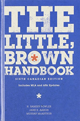 9780321615374: The Little, Brown Handbook, Sixth Canadian Edition (6th Edition)