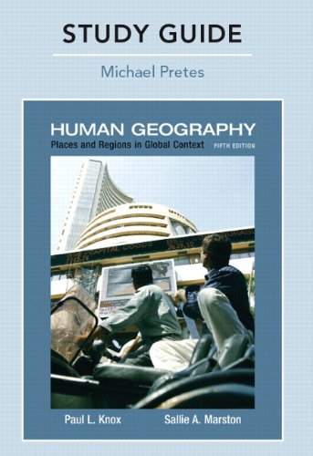 9780321615435: Study Guide for Places and Regions in Global Context: Human Geography