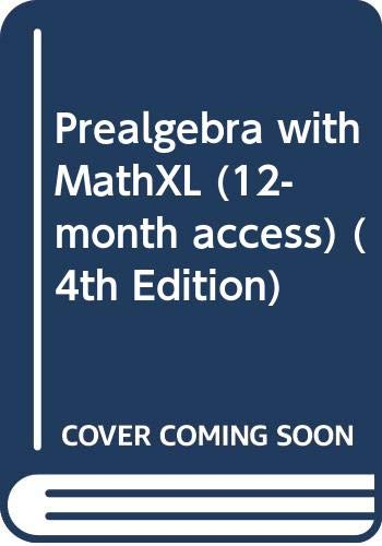 9780321616494: Prealgebra with MathXL (12-month access) (4th Edition)