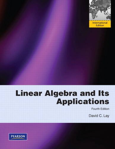 9780321623355: Linear Algebra and Its Applications:International Edition