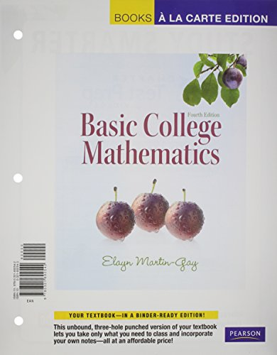 9780321623805: Basic College Mathematics, A La Carte with MML/MSL Student Access Kit (adhoc for valuepacks) (4th Edition) (Books a la Carte)