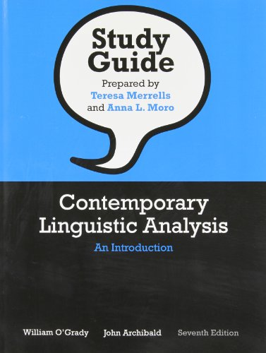 9780321624260: Study Guide for Contemporary Linguistic Analysis: An Introduction, Seventh Edition