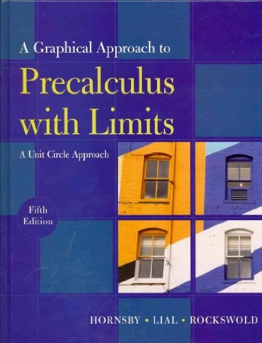 9780321624321: Graphical Approach to Precalculus with Limits: A Unit Circle Approach plus MyMathLab/MyStatLab Student Access Code Card, A (5th Edition)