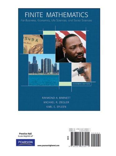 9780321628411: Finite Mathematics for Business, Economics, Life Sciences and Social Sciences, Books a la Carte Edition (11th Edition)