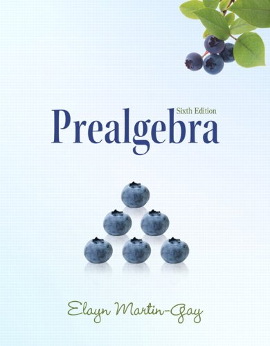 9780321628862: Prealgebra (6th Edition) (The Martin-Gay Paperback Series)