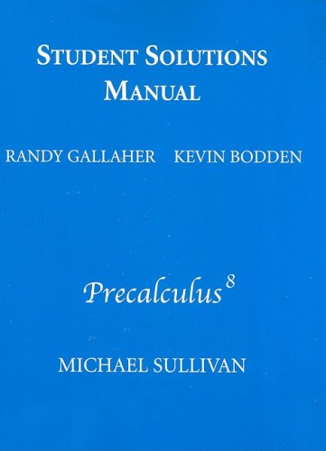 9780321628916: Student Solutions Manual for Precalculus